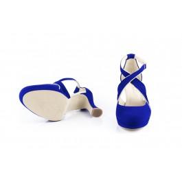 Olimpia Campanula elegante sandalia de fiesta
