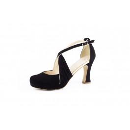 Olimpia Negro elegante sandalia de fiesta