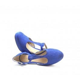 Pili Azul sandalia vintage con plataforma