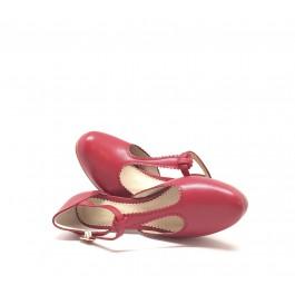 Pili Rojo sandalia vintage con plataforma