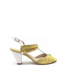Olivia Amarillo sandalias años 50