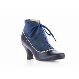 Aurora Azul botines vintage