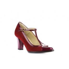 Francia Rojo zapato retro