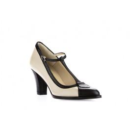 Francia Bicolor zapato retro