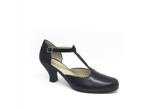 Mili Negro sandalia retro