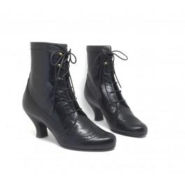 Victoria Negro bota estilo retro