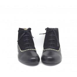 Alis Negro botín estilo retro