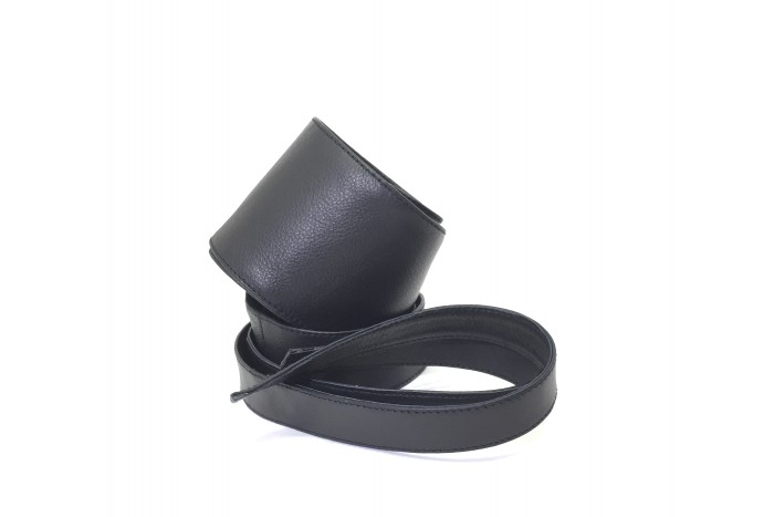 Cinturón Fajín piel negro