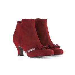 Lulú Rojo elegante botín retro