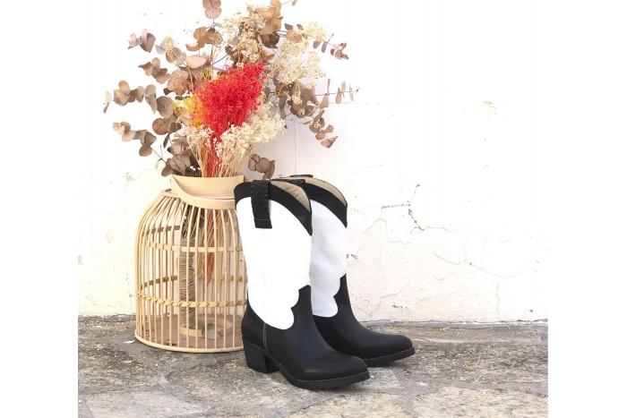 Susana Bicolor bota cowboy