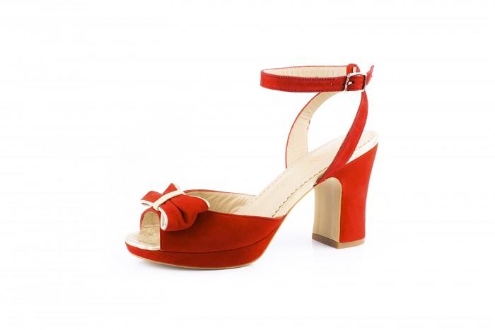 Julieta Pasión sandalia con lazo