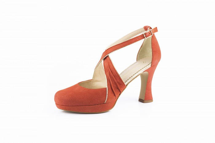 Olimpia Coral elegante sandalia de fiesta