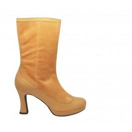 Natalia Plat. Topacio botas altas con plataforma