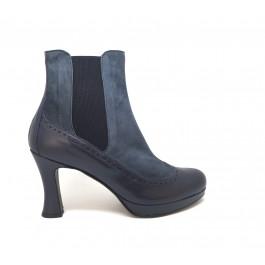 Nuria Plat. Indico Chelsea boots