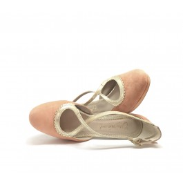 Irene Apricot sandalia de fiesta