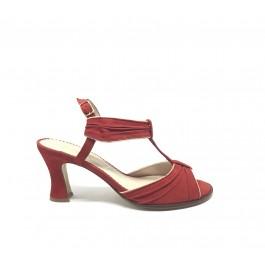 Olivia Pasion sandalia con detalles dorados