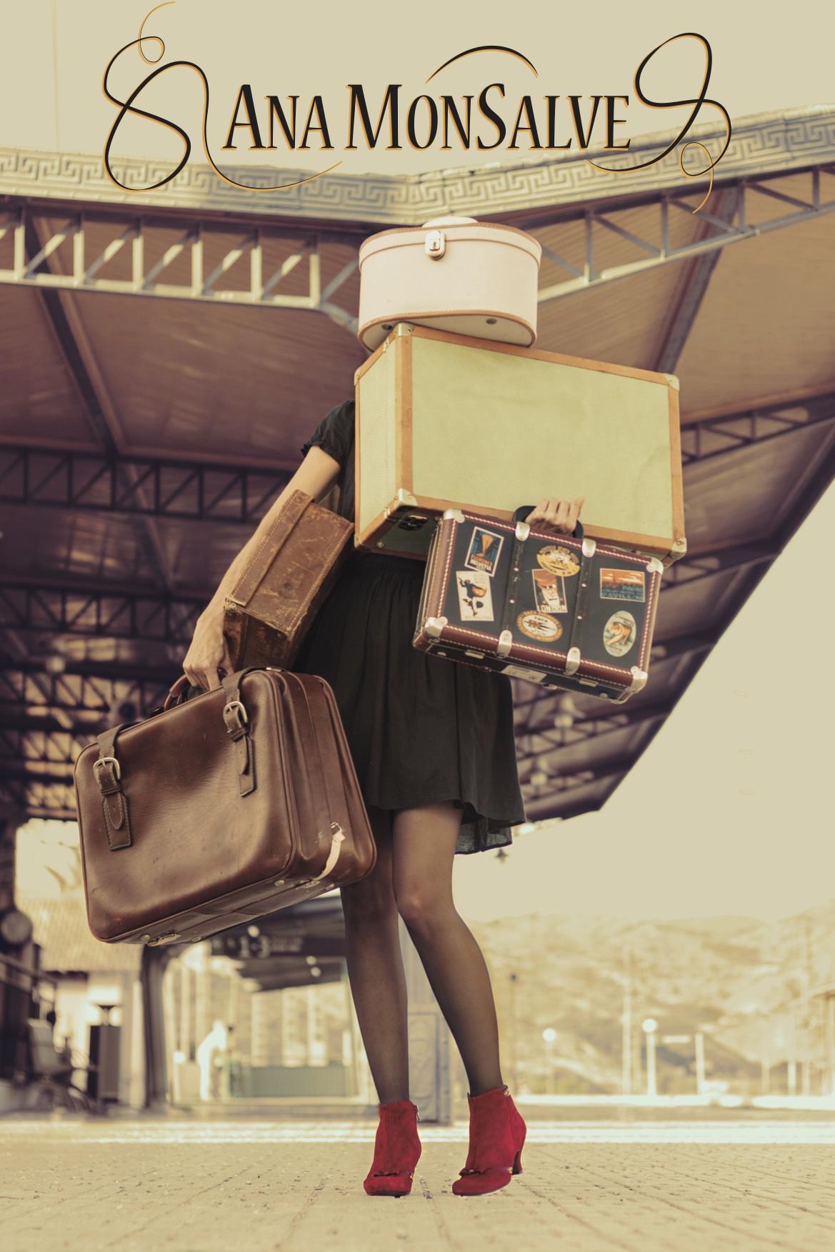 Chica en vias del tren